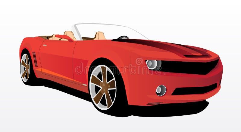 rouge de véhicule illustration de vecteur