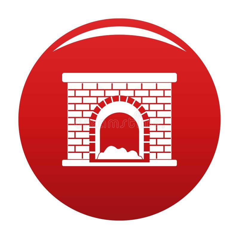 Rouge de vecteur d'icône de cheminée de brique illustration libre de droits
