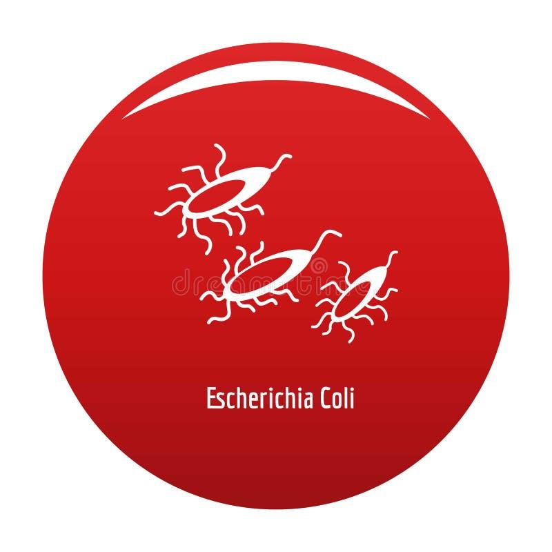 Rouge de vecteur d'icône d'Escherichia coli illustration stock