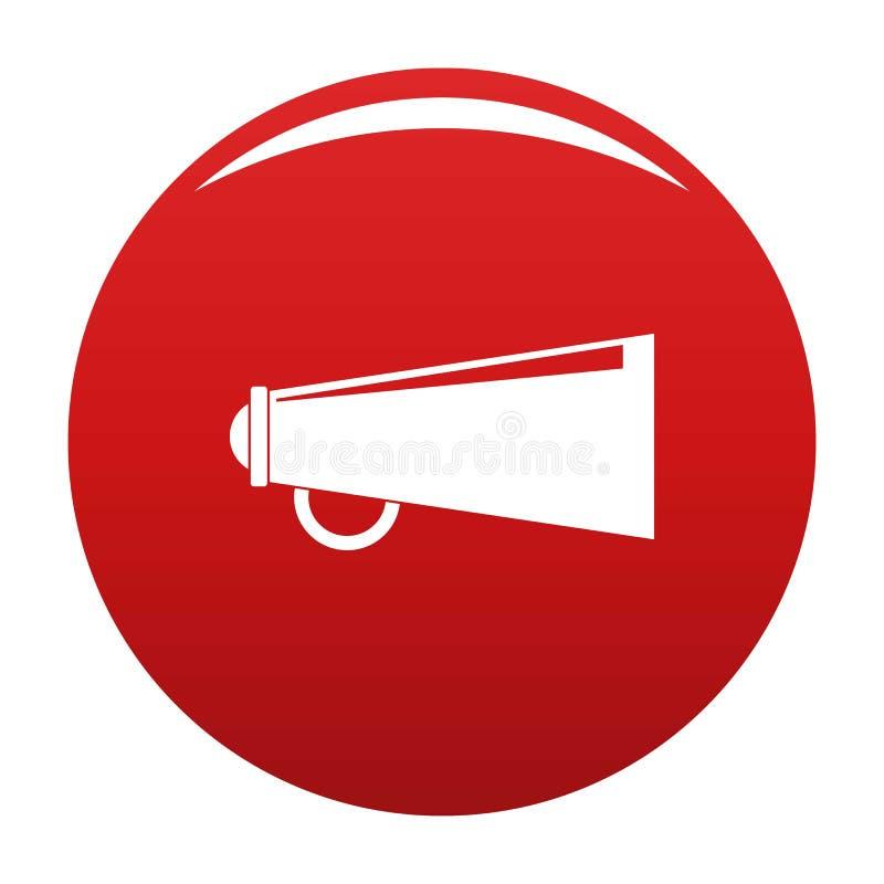 Rouge de vecteur d'icône de haut-parleur illustration stock