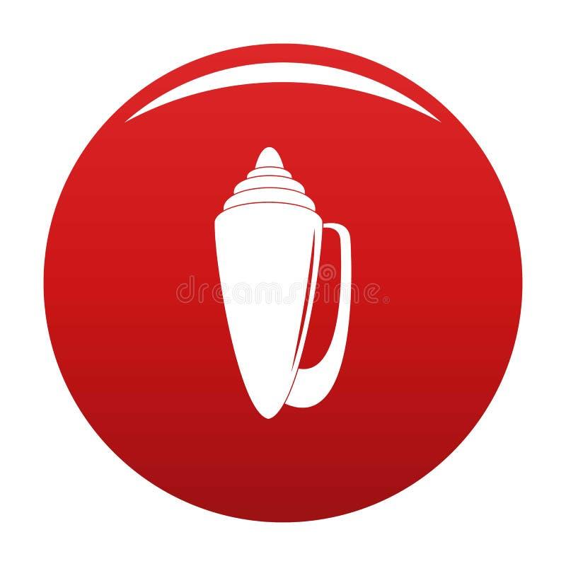 Rouge de vecteur d'icône de Shell illustration stock