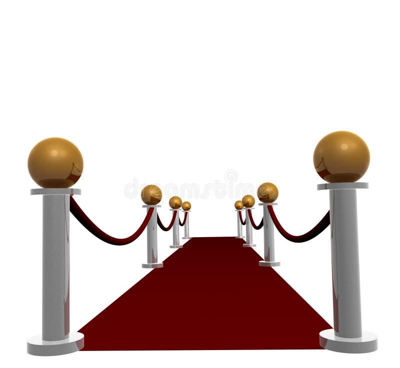 rouge de vestibule de tapis illustration libre de droits