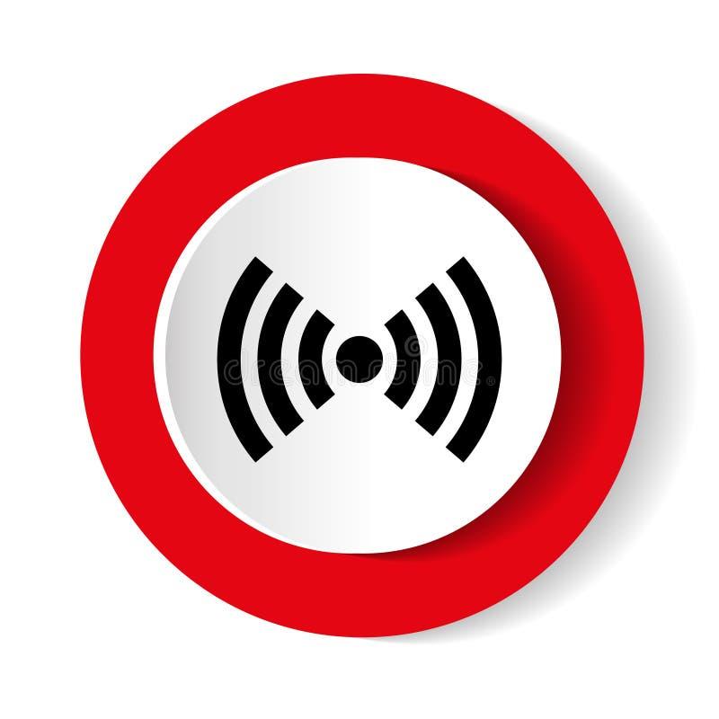 Rouge de Wifi d'isolement sur le fond blanc Illustration de vecteur conception de vecteur de Web et icône modernes blanches de sm illustration de vecteur