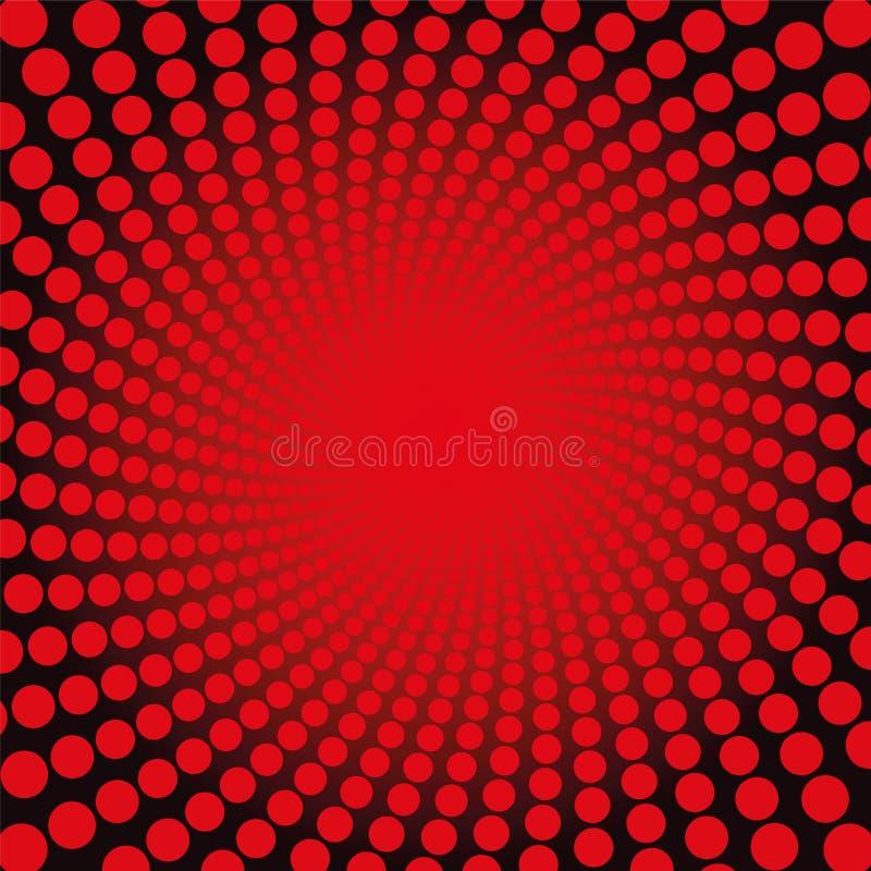 Rouge Dots Fiery Glow Pattern de Spirale illustration libre de droits