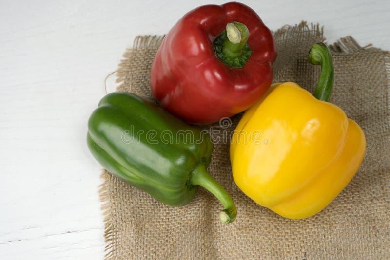 rouge doux de jaune de vert de paprika photo stock