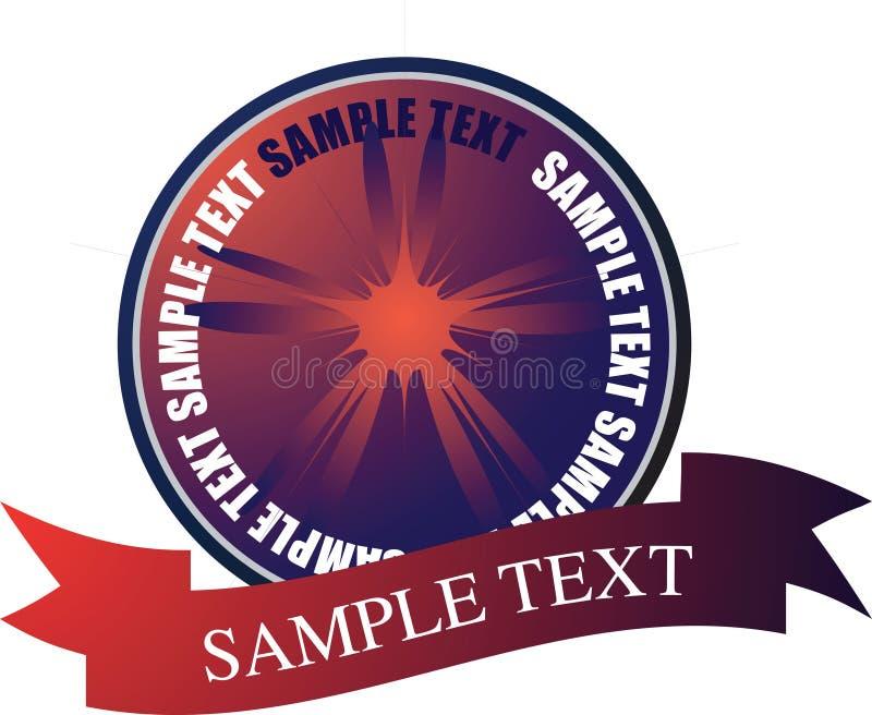 Rouge doux de logo illustration stock