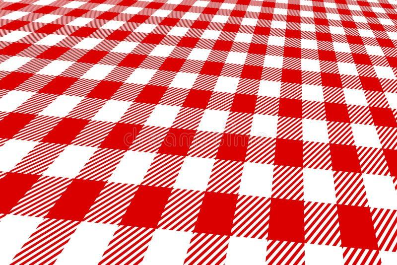 rouge et blanc de nappe du pique nique 3d illustration stock illustration du cuisine. Black Bedroom Furniture Sets. Home Design Ideas