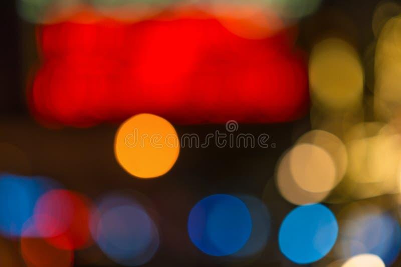 Rouge et bleu colore le bokeh photographie stock
