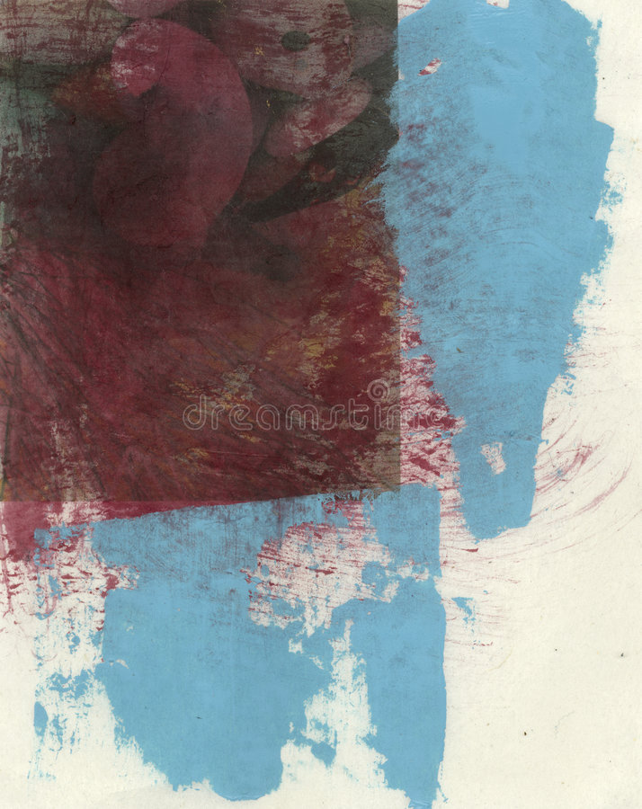 Rouge et cyan abstraits illustration de vecteur