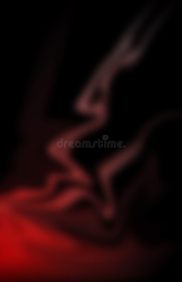 Rouge et noir illustration libre de droits
