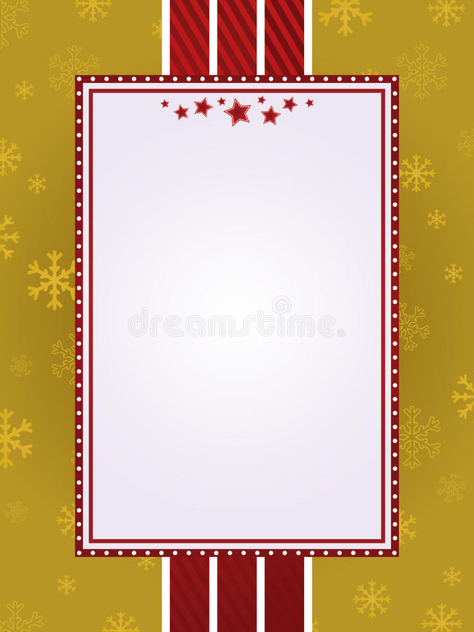Rouge et trame de Noël d'or illustration stock
