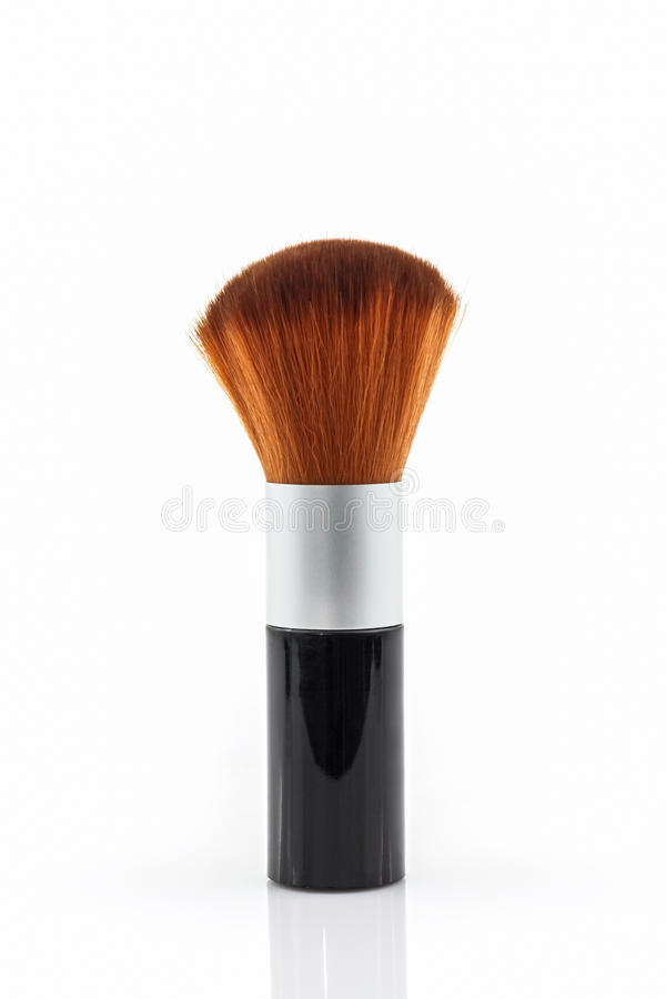 Rouge för makeupborstepulver royaltyfria bilder