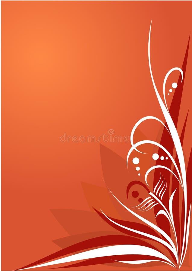 Rouge floral de fond illustration stock