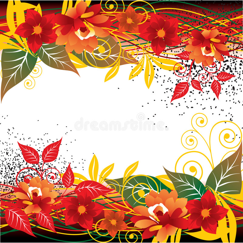 rouge floral de fond abstrait illustration de vecteur