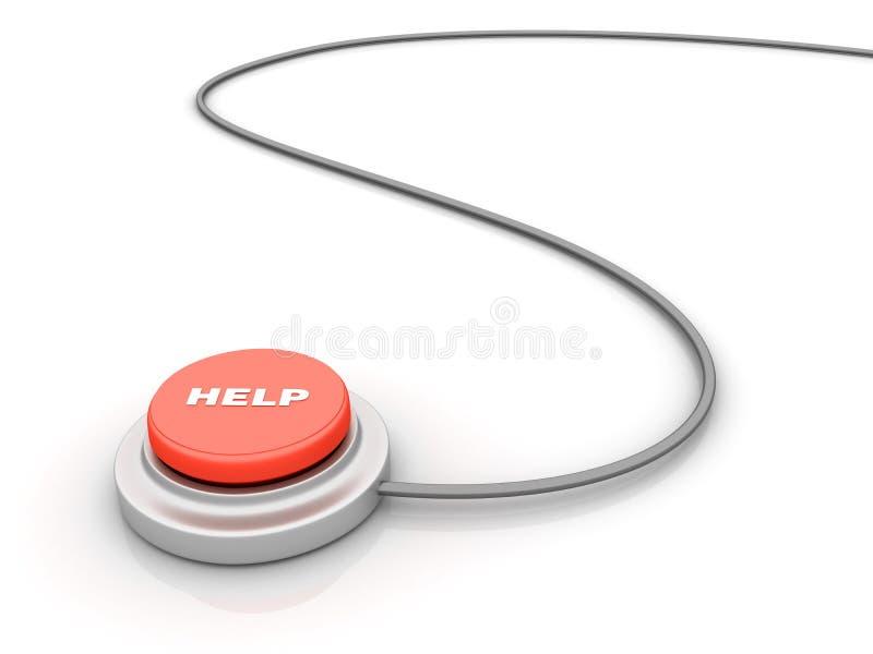 rouge graphique d'aide de bouton de flèches illustration libre de droits