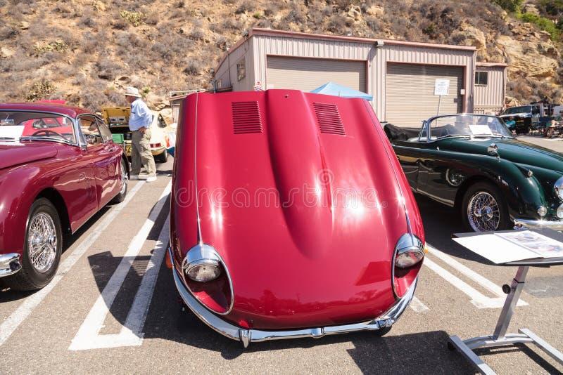 Rouge Jaguar 1969 XKE photographie stock libre de droits