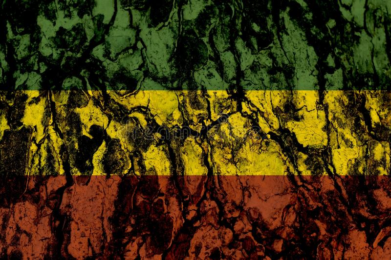 Rouge jaune vert sur le fond en bois de texture, concept de fond de reggae images stock