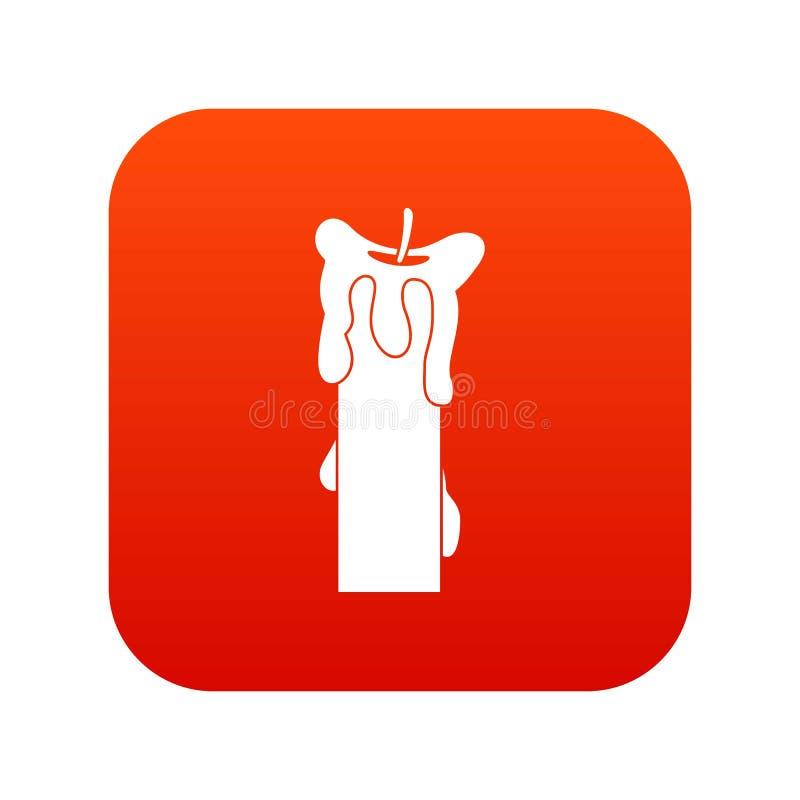 Rouge numérique éteint d'icône de bougie illustration de vecteur