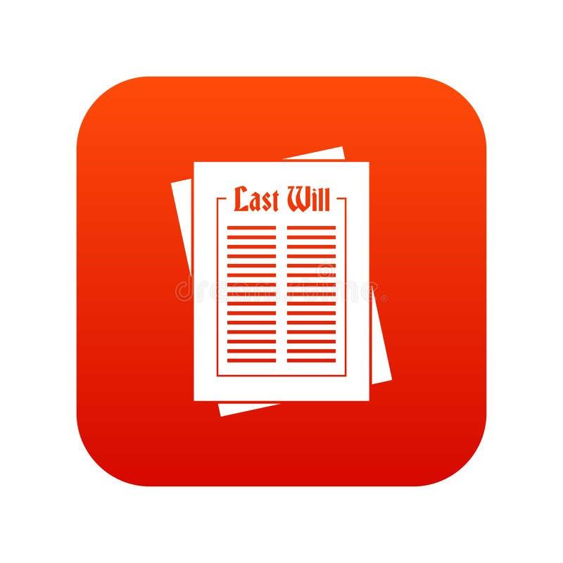 Rouge numérique d'icône illustration de vecteur