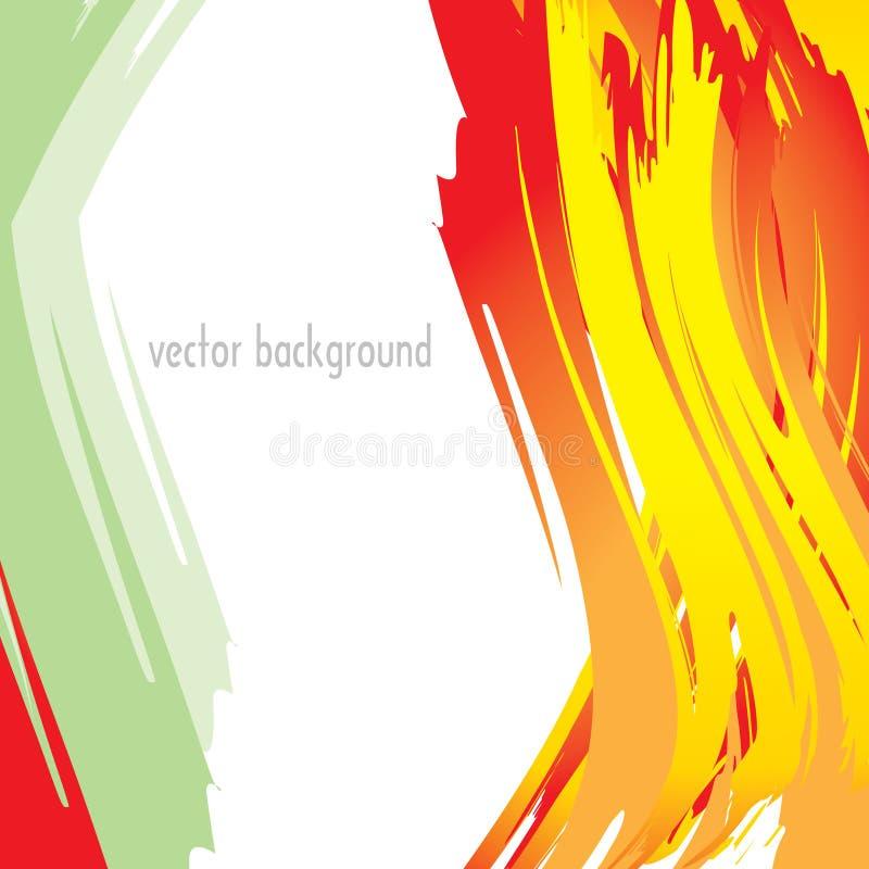 Rouge, orange, verts, et courses jaunes illustration de vecteur