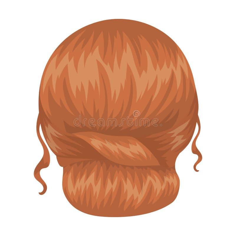 Rouge peigné derrière Icône simple de coiffure arrière en Web d'illustration d'actions de symbole de vecteur de style de bande de illustration libre de droits