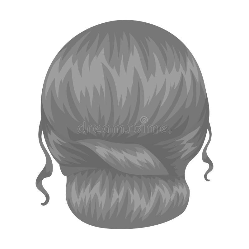 Rouge peigné derrière Icône simple de coiffure arrière en Web monochrome d'illustration d'actions de symbole de vecteur de style illustration libre de droits