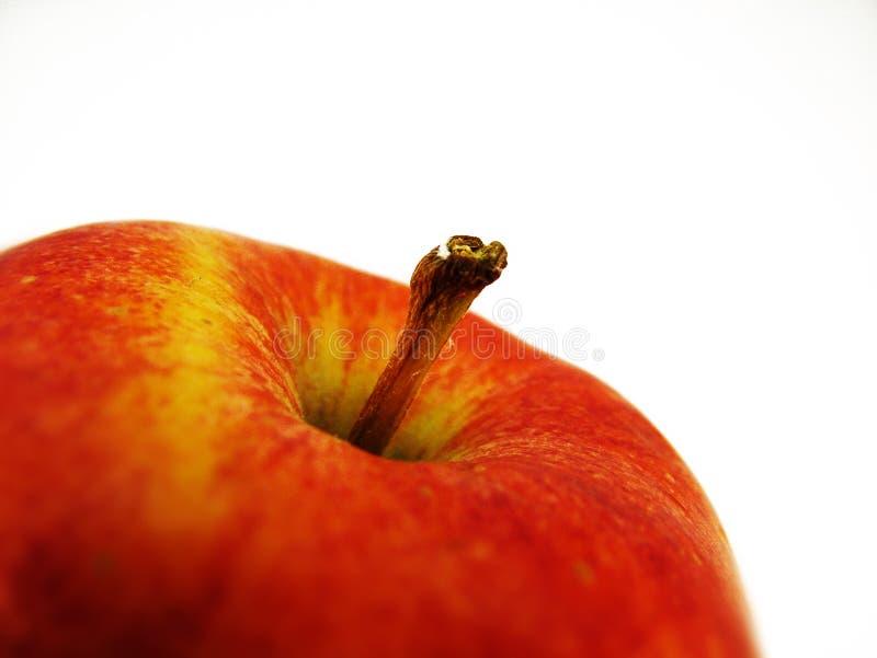 rouge proche de pomme vers le haut image stock