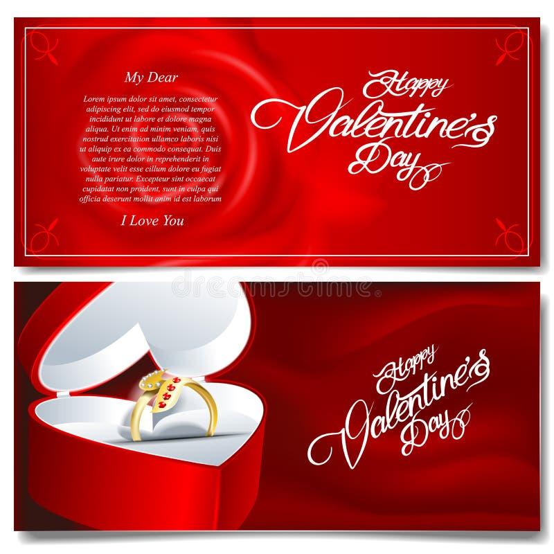Rouge réaliste heureux de jour de valentines de vecteur de Digital illustration libre de droits
