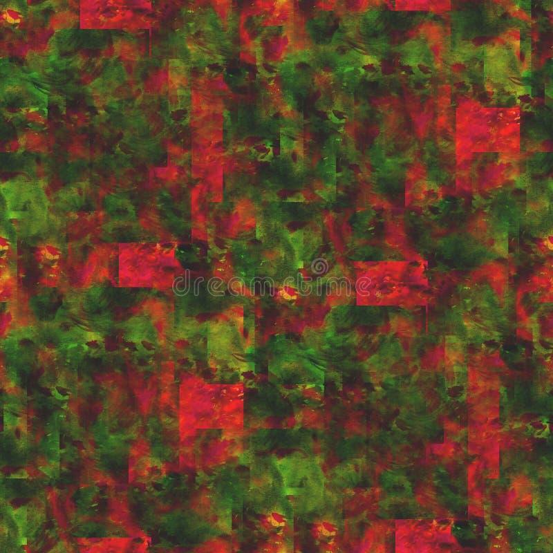Rouge sans couture de style de photo de papier peint, vert illustration libre de droits