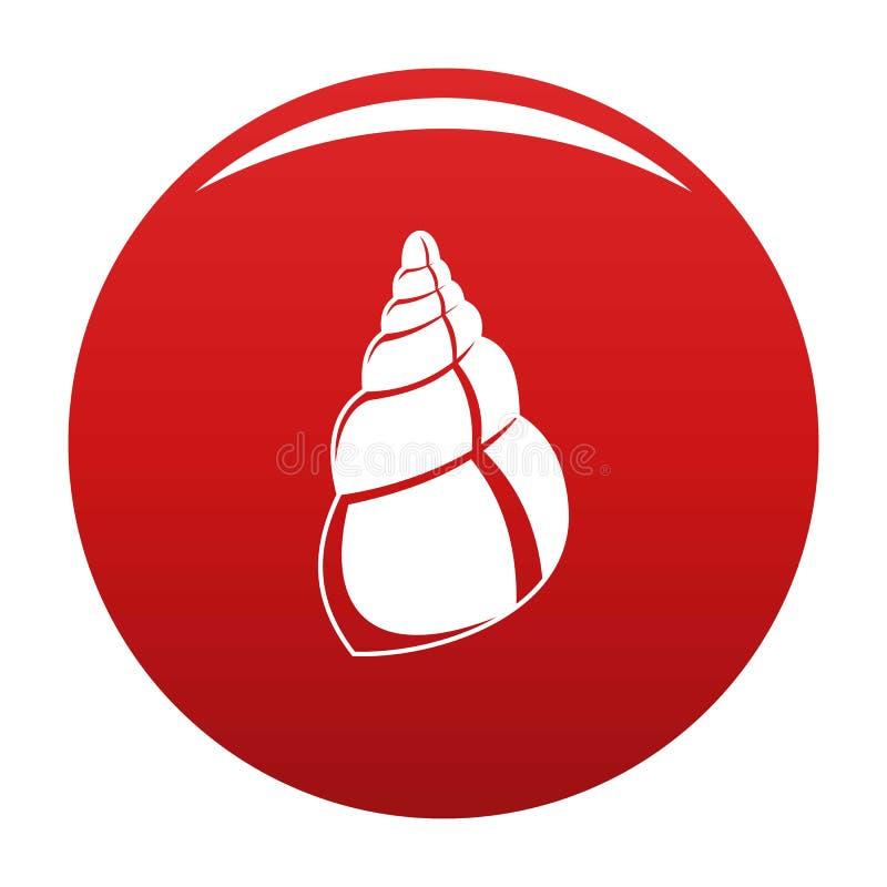Rouge sauvage de vecteur d'icône de coquille illustration de vecteur