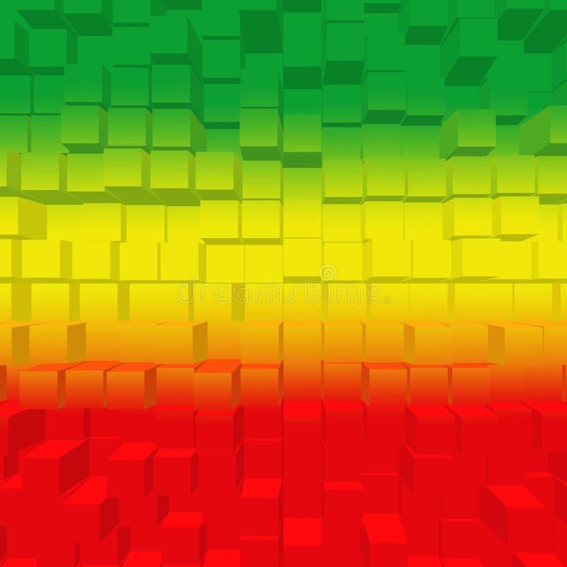 Rouge, vert, jaune illustration de vecteur