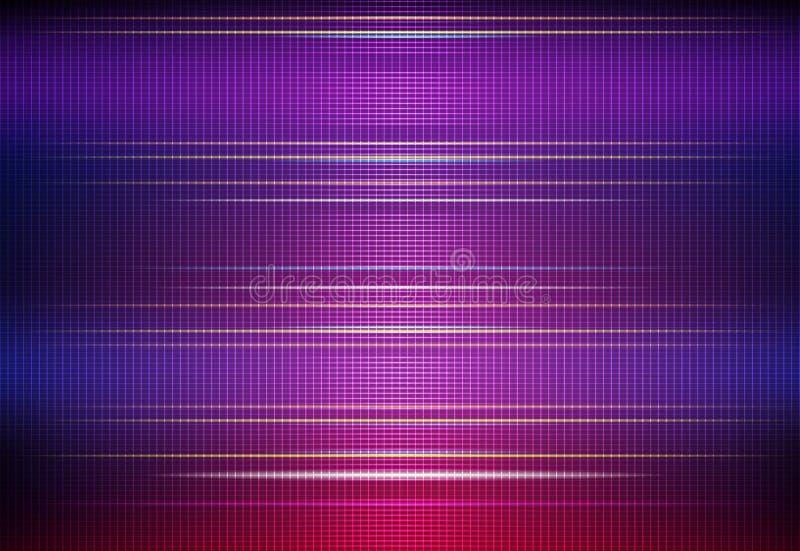 Rougeoyer abstrait d'illustration, effet de lampe au néon, ligne de vague, profil onduleux illustration de vecteur