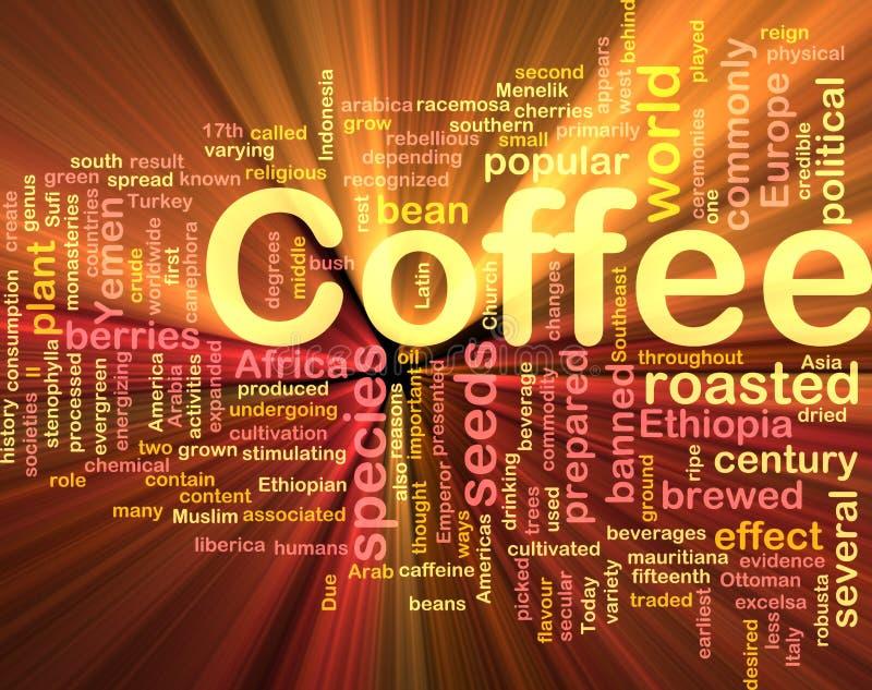 Rougeoyer de concept de fond de boisson de café illustration libre de droits