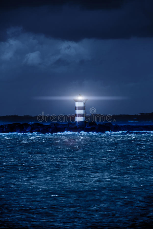 Rougeoyer de phare photographie stock