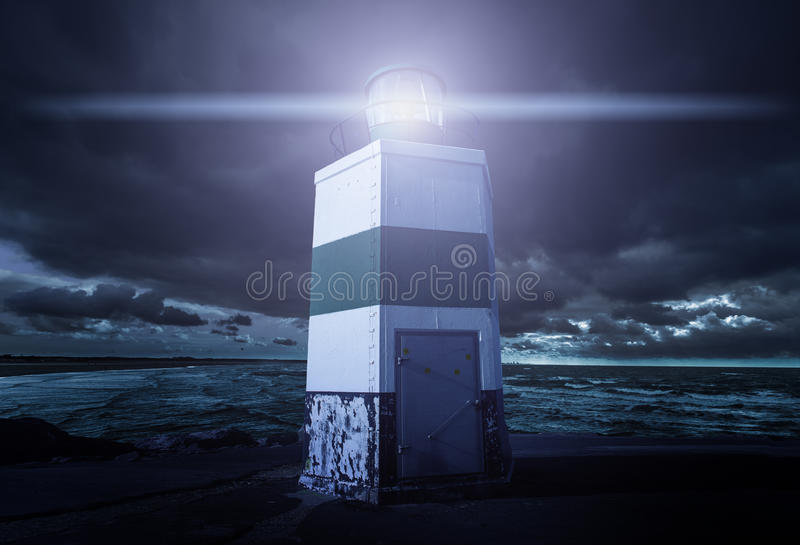 Rougeoyer de phare image stock
