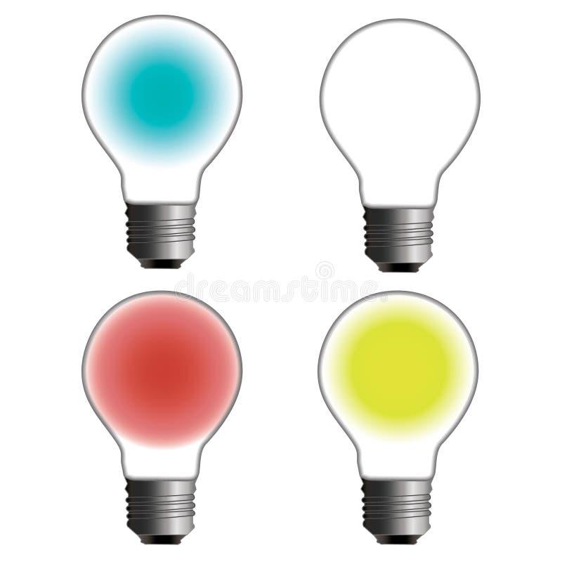 Rougeoyer et arrêtée ampoule électrique illustration libre de droits