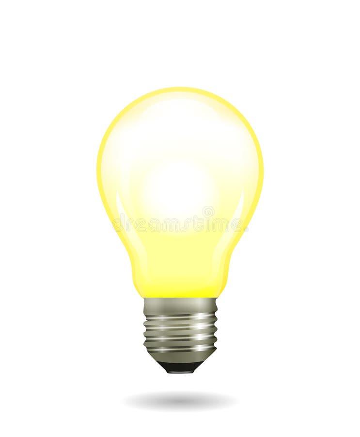 Rougeoyer lumineux et ampoule jaune brillante illustration stock