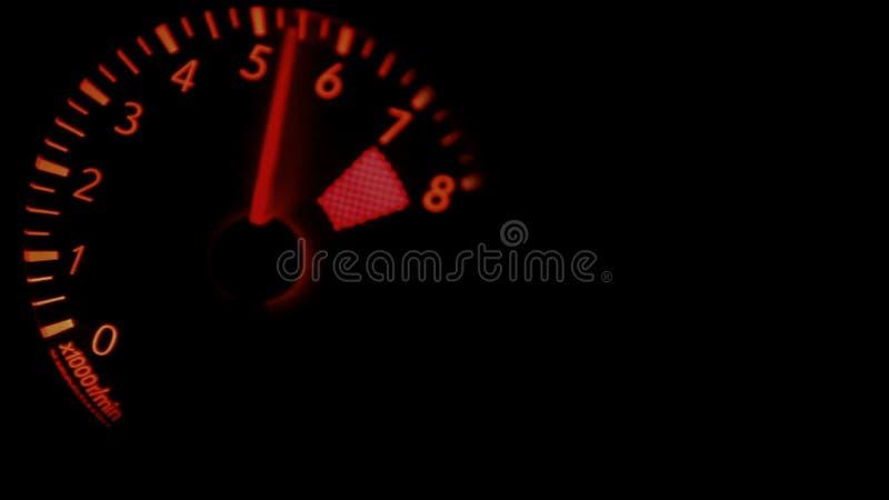 Rougeoyer régulateur de la vidéo RED/Green de tachymètre de la voiture 8000 t/mn banque de vidéos