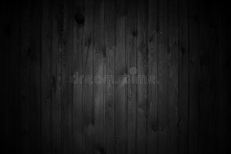 Rough black wood background stock images