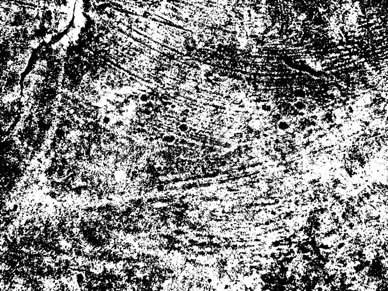 Rough concrete wall texture. Weathered stone black and white background. vector illustration