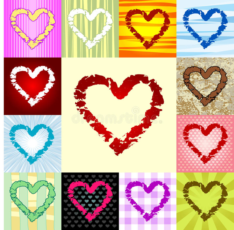 Download Rough heart pattern stock vector. Image of outline, grunge - 23236406