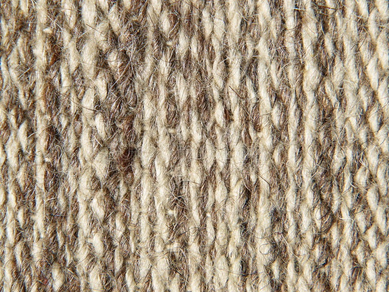 Rough Knit Camel Wool Fabric Texture Pattern. Stock Photo ...