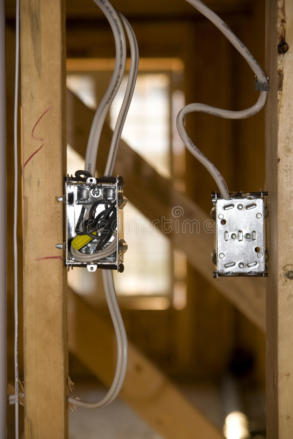 Rough In Light Switch stock image