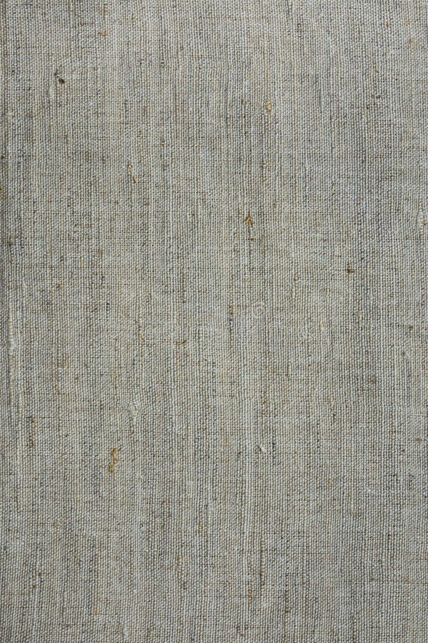 Rough linen canvas fabric texture, background, woven, wallpaper, light grey and beige tones stock images