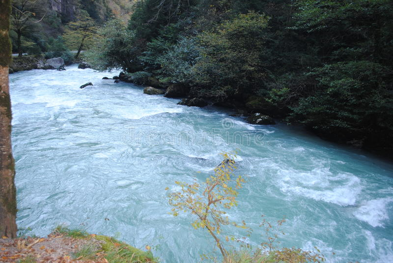 Rough mountain river stock images