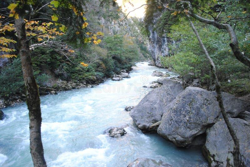 Rough mountain river stock photos