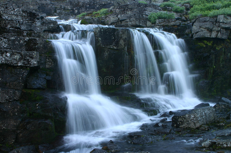 Rough mountain stream stock images