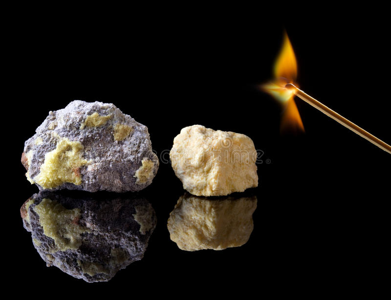 Download Rough Natural Sulphur Stones Stock Photo - Image of sulfur, flames: 24378738