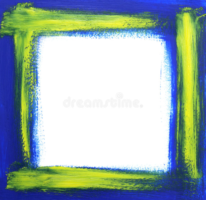 Rough Oil-painted Frame Stock Photos
