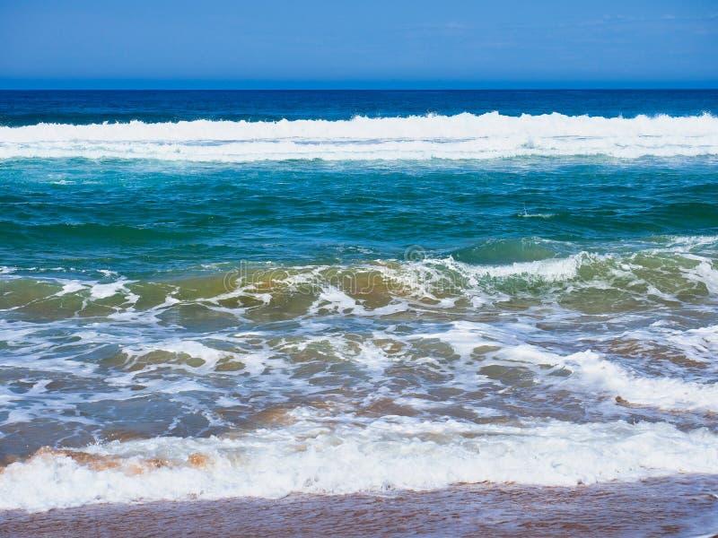 Rough Pacific Ocean waves on Australian Beach royalty free stock photo